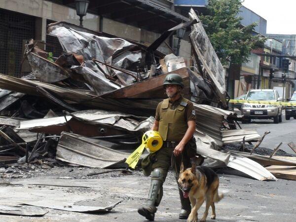 В разрушенном землетрясением городе Консепсьон в Чили