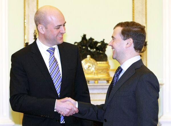 Президент РФ Д.Медведев принял премьер Швеции Ф.Рейнфельдта