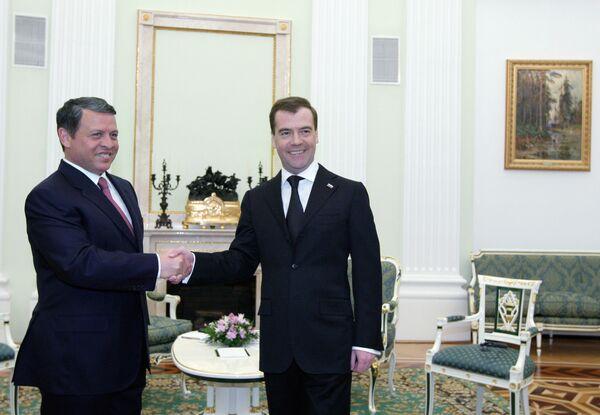 Встреча президента РФ и короля Иордании в Кремле