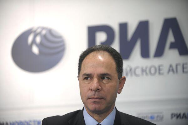 Посол Государства Палестина в РФ д-р Фаед Мустафа во время Круглого стола о ситуации на Ближнем Востоке