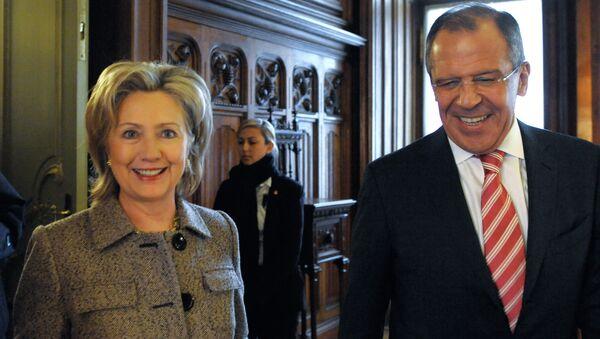 Встреча главы МИД РФ Сергея Лаврова и госсекретаря США Хиллари Клинтон. Архив