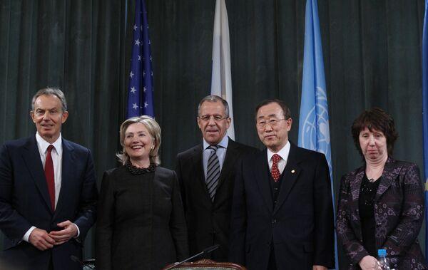 Заседание квартета посредников ближневосточного урегулирования