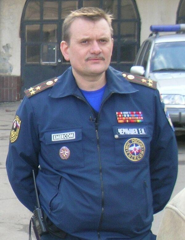 Начальник службы пожаротушения Москвы полковник внутренней службы Евгений Чернышев