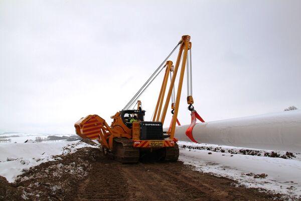 Строительство газопровода-отвода от Nord Stream на территории Германии. Архив