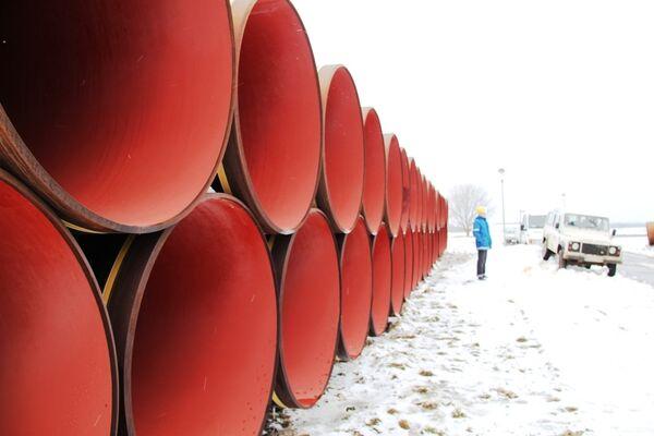 Строительство газопровода. Архив