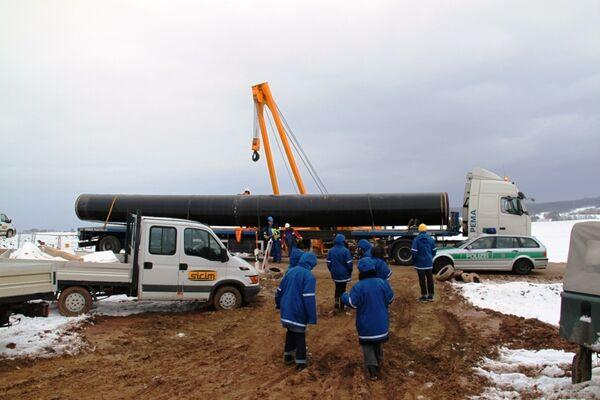 Строительство газопровода Nord Stream. Архив