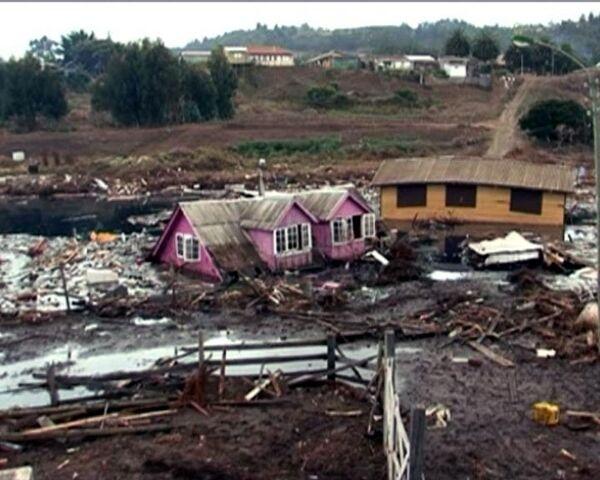 В пережившем землетрясение городе образовалось мертвое озеро