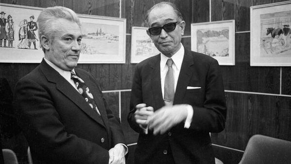 Японский кинорежиссер Акира Куросава. Архивное фото