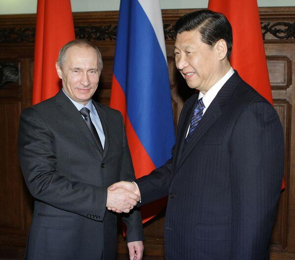 Премьер-министр РФ Владимир Путин встретился с Си Цзиньпином
