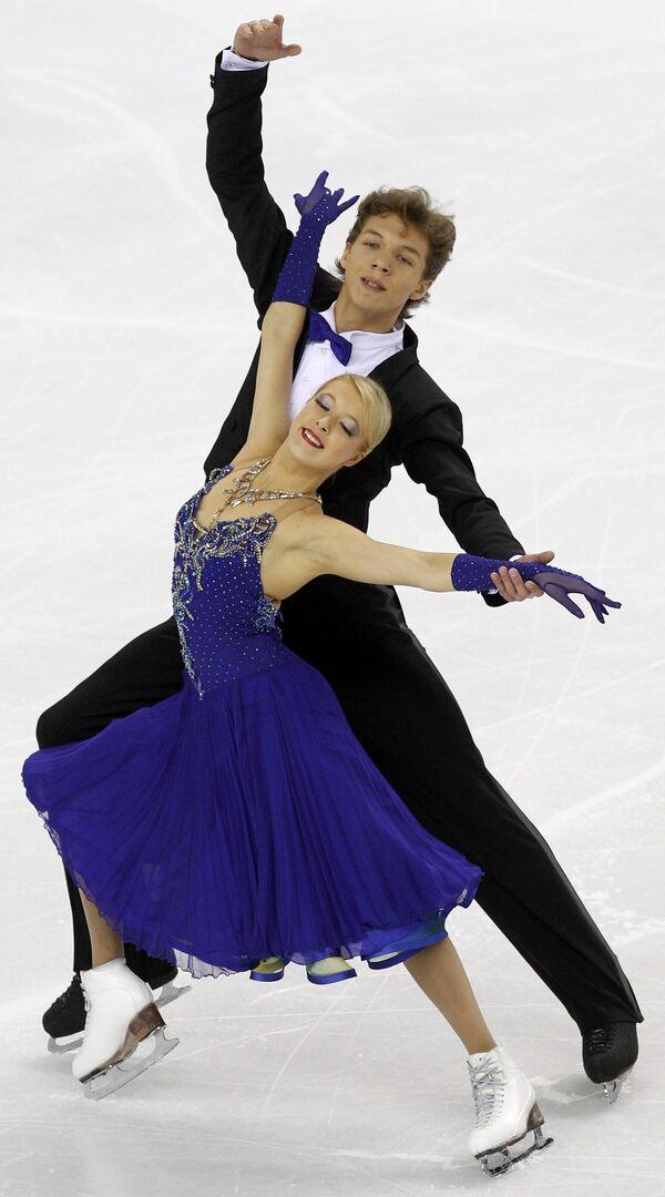 Екатерина Боброва и Дмитрий Соловьев на чемпионате мира в Турине.