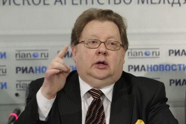 Генеральный директор Российской государственной цирковой компании Александр Калмыков на пресс-конференции в РИА Новости