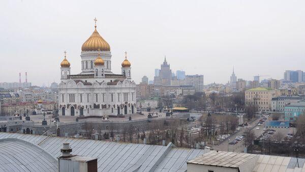 Вид на храм Христа Спасителя. Архив