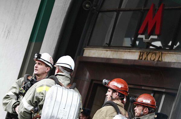 На месте взрыва у станции метро Лубянка