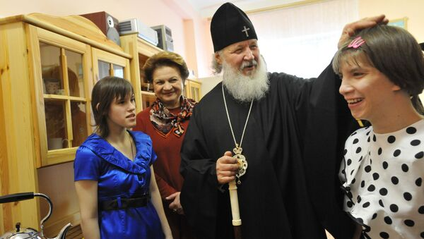 Посещение Патриархом Кириллом детского интерната