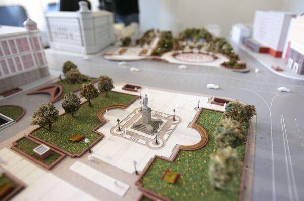 Макет реконструкции Пушкинской Площади