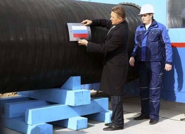 Алексей Миллер на открытии строительства газопровода Nord Stream (Северный поток)