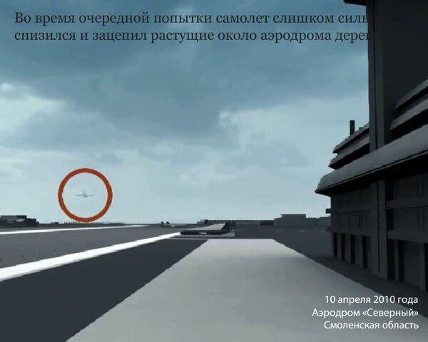 Реконструкция крушения самолета президента Польши