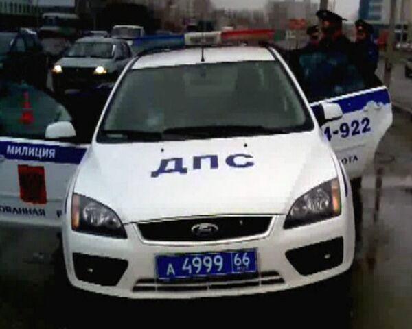 Патрульная машина ГИБДД сбила женщину в Екатеринбурге