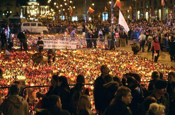 Траур по погибшим в авиакатастрофе под Смоленском
