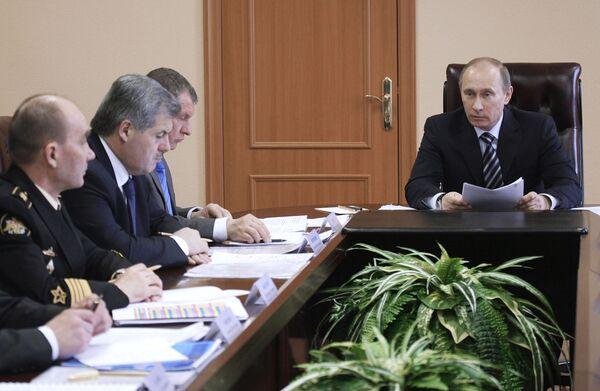 Рабочая поездка премьер-министр России Владимира Путина в Мурманскую область