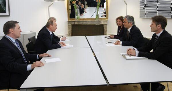 Беседа Владимира Путина и Вернера Файмана