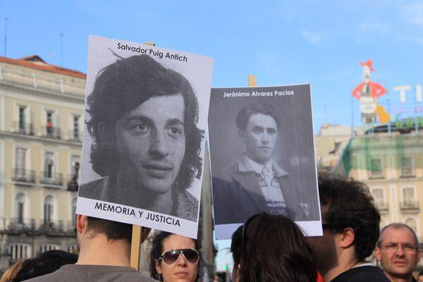 Испанцы вышли на улицы протестуя против безнаказанности франкизма