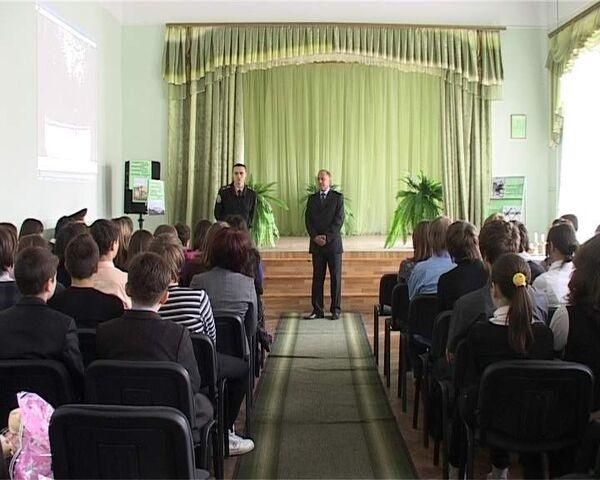 Спасатели МЧС Украины рассказывают детям о Чернобыльской катастрофе