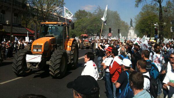 Акция протеста фермеров в Париже. Архивное фото