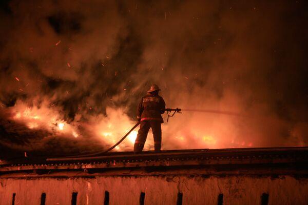 Пожар в Псковском кремле