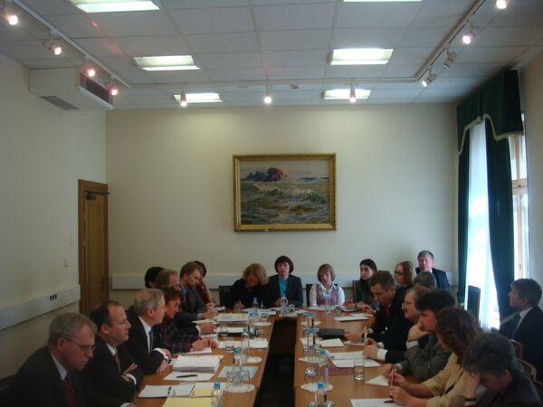 Заседание российско-американской комиссии по усыновлению. Архив
