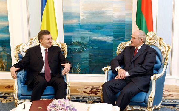 Встреча Виктора Януковича и Александра Лукашенко в Минске