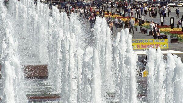 Каскад фонтанов на Поклонной горе