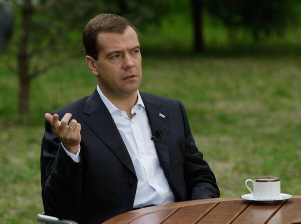 Интервью Дмитрия Медведева газете Известия
