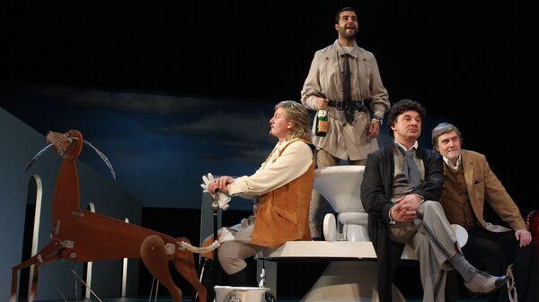 Показ спектакля Бешеные деньги в Театре имени А. Пушкина