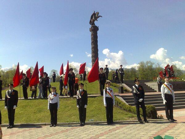 Возложение венков на мемориале Славы во Владикавказе
