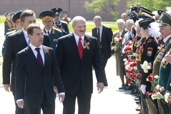 Открытие стелы Города воинской славы в Александровском саду