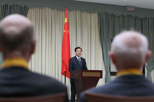 Встреча председателя КНР Ху Цзиньтао с ветеранами