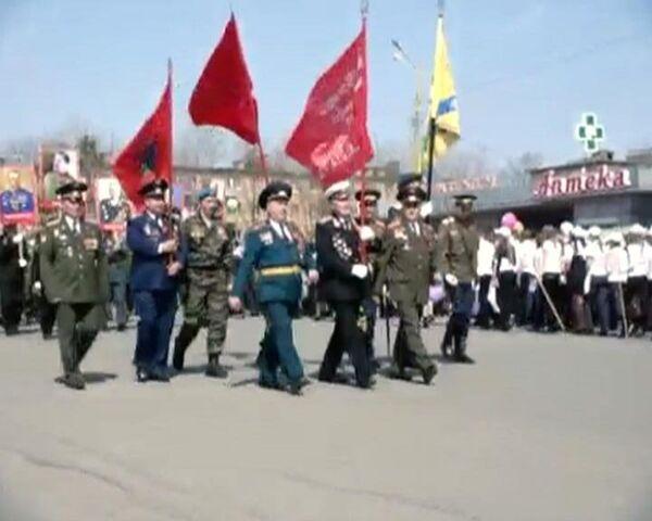 В городе Артем прошел парад в честь 65-летия Победы