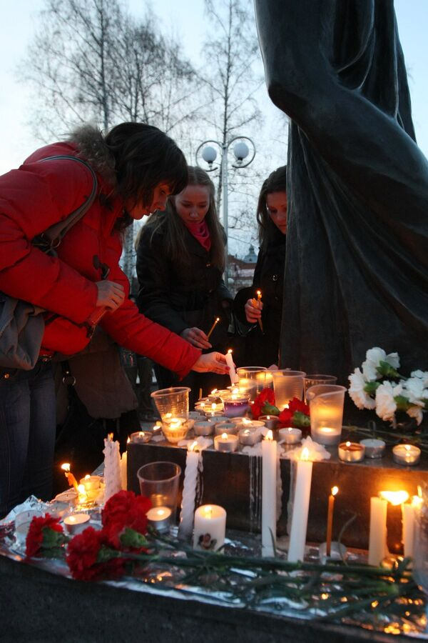 Акция памяти шахтеров, погибших на шахте Распадская
