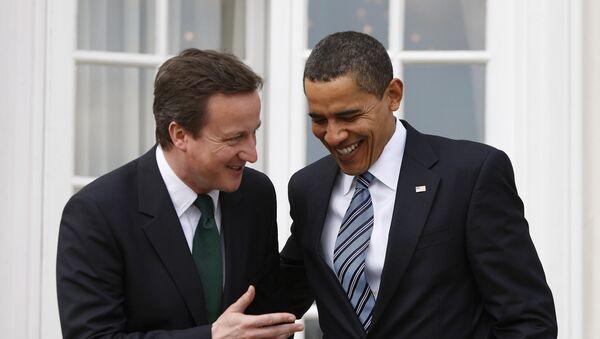 Лидер Консервативной партии Великобритании Дэвид Кэмерон и президент США Барак Обама