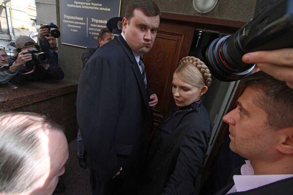 Юлия Тимошенко прибыла в Генеральную прокуратуру