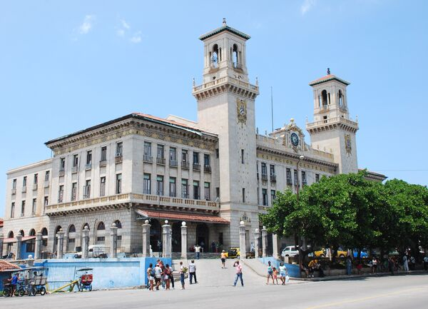 Центральный железнодорожный вокзал Гаваны. Архив