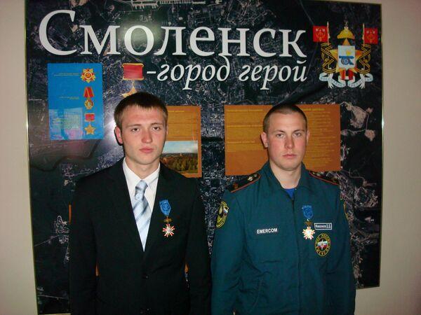 Спасатели, награжденные Коморовскими орденами за заслуги перед республикой Польша