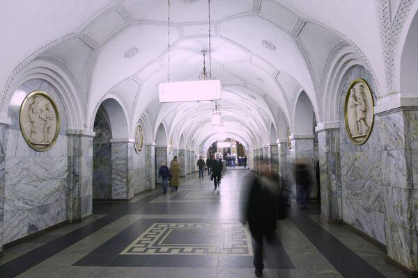 Станция Кольцевой линии Московского метрополитена Парк Культуры. Архив