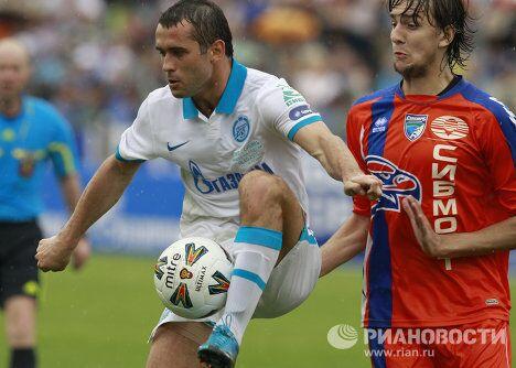 Игровой момент матча Зенит (Санкт-Петербург) - Сибирь (Новосибирск)