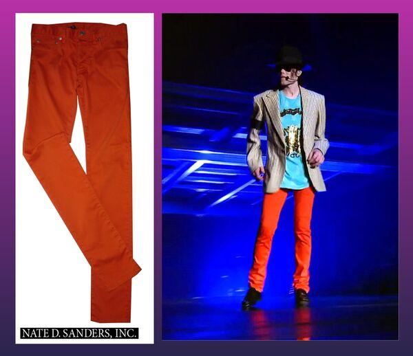 Оранжевые джинсы Майкла Джексона из фильма Вот и все