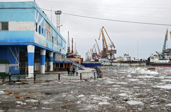 Речной порт Якутска