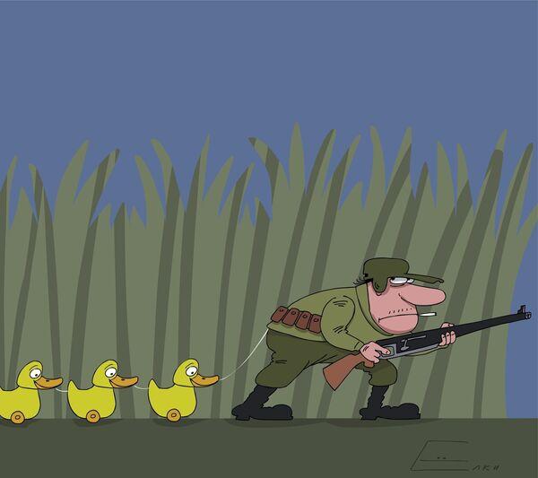 Смешные картинки охотник и утка
