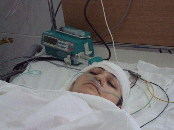 Пострадавшая при теракте в Ставрополе в реанимации Ставропольской Краевой больницы. Архив