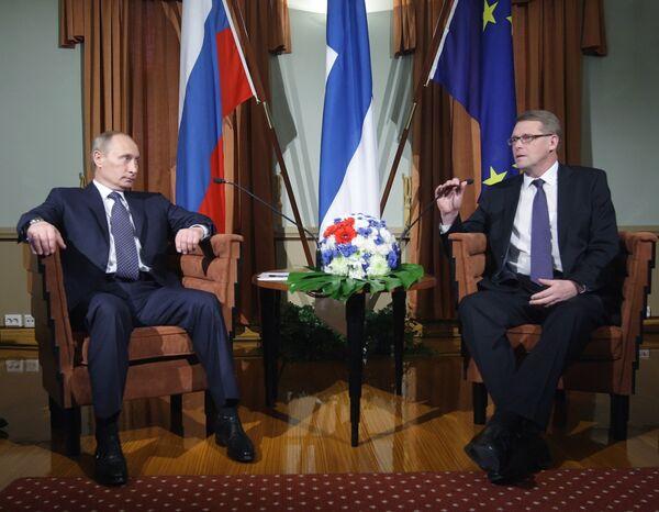 Премьер-министр РФ Владимир Путин провел переговоры с премьер-министром Финляндской Республики Матти Ванханеном